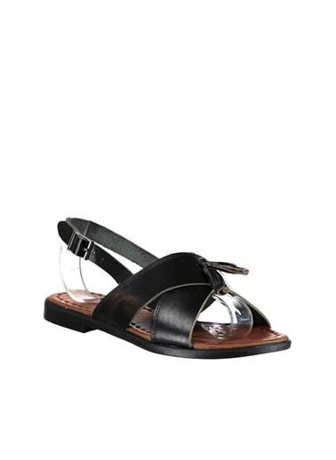 Pembe Potin A3008-18 Kadın Sandalet Siyah